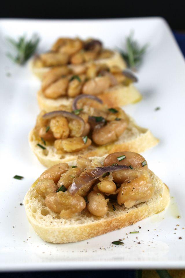 Tuscan White Bean Crostini Recipe Tuscan White Bean Crostini