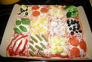 Quilt pizza - great for a party or kids sleepover. They get to ...