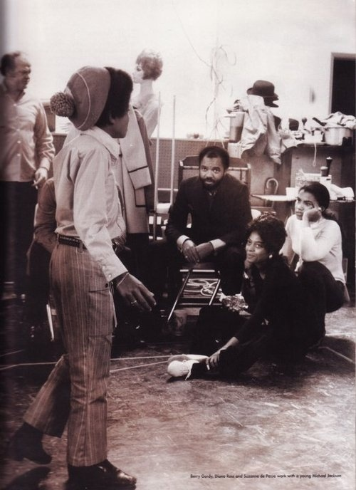 Michael Jackson, Barry Gordy, Diana Ross & Suzanne de Passe