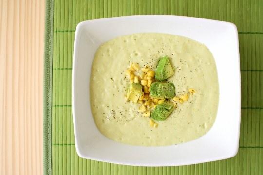 light avocado corn chowder | Best Recipes To Try | Pinterest