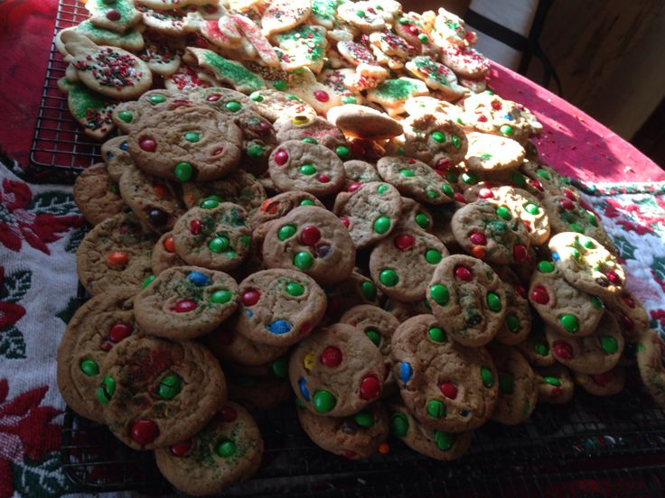 M&M cookies, the kids just love them' | Cookies and a big ...