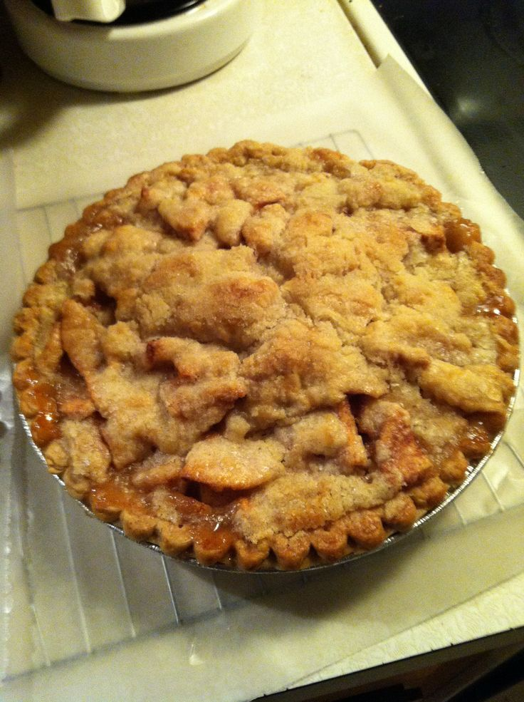 Apple Pie baked in a brown paper grocery bag. Perfect every time.