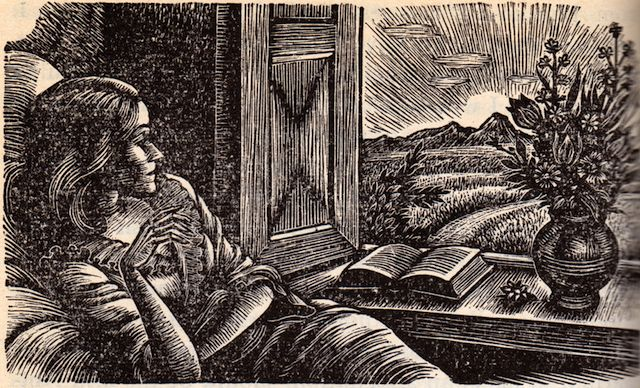 "... from ""Wuthering Heights"" by Emily Brontë 1950 (wood engraving"