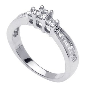 Gold Princess Cut Engagement Ring (0.80ct) --- http:.pinterest ...