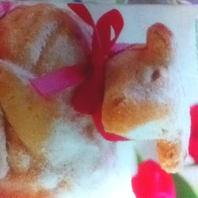 Easter Lamb Cake this year instead of our usual Easter Bunny cake ...