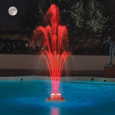 Color fall 3 tier w led lighting pool fountain - Swimming pool fountains and lights ...