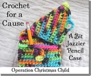 Crochet for a Cause: A Bit Jazzier Pencil Case