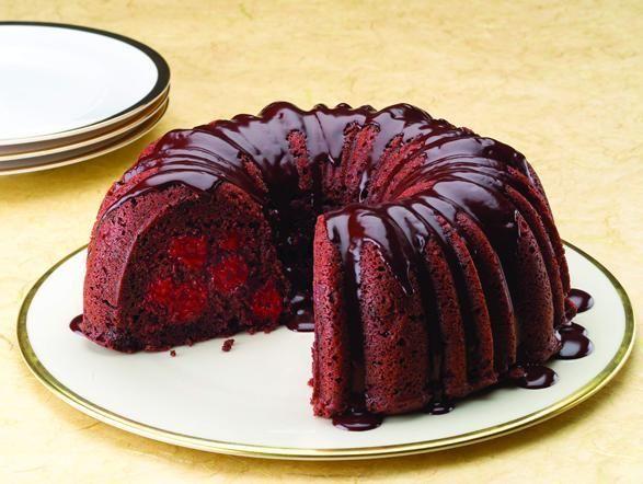 Chocolate Cherry Cake with Rum Ganache | Cakes | Pinterest
