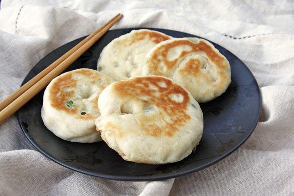 Chinese scallion pancakes! | Savory pancakes, dumplings, patties | Pi ...