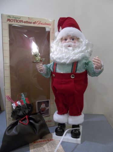 Vintage telco motionette animated santa claus christmas for Animated santa claus decoration