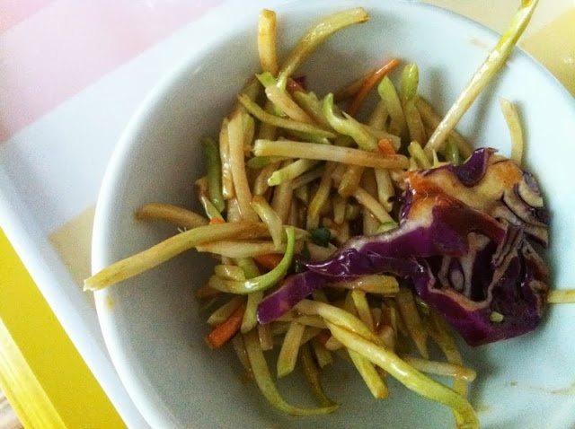 southwestern slaw, a light option for fish tacos, hotdogs, or on its ...