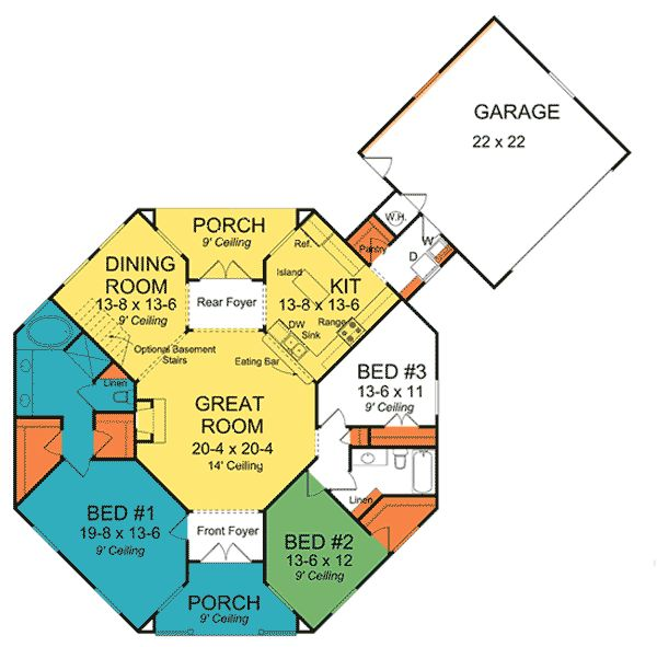 Pin by alison headley on weird house plans pinterest for Octagon home designs