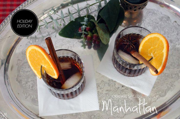 Spiced Manhattan | cocktails | Pinterest
