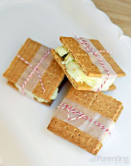 allParenting Graham cracker and Key lime ice cream sandwiches