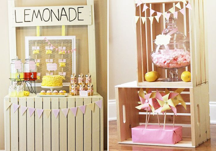 Vintage Decoracion Bautizo ~ Lemonade Stand Guest Dessert Feature