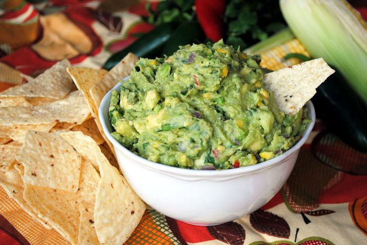 Low Fat Guacamole with Roasted Corn and Bacon - The Little Miss Chef