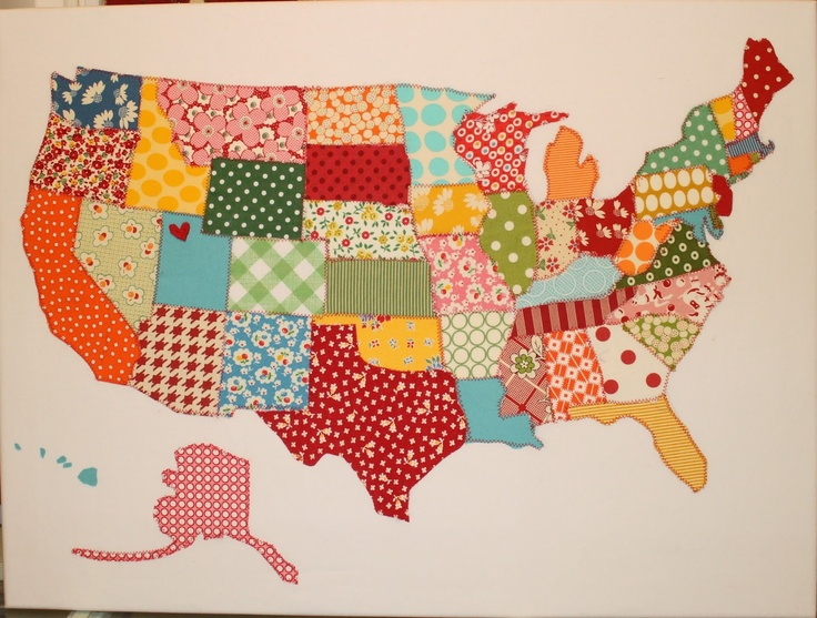 Us map quilt pattern