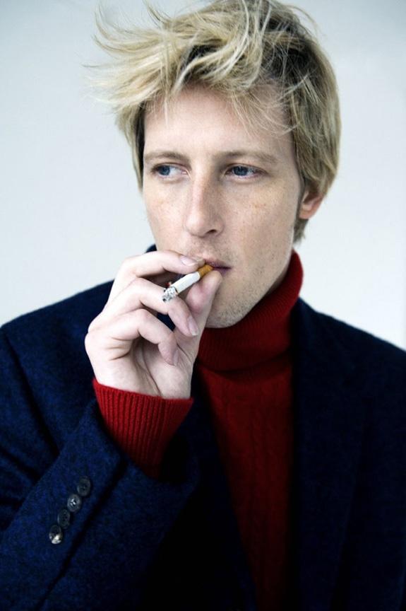 Gabriel Mann smoking a cigarette (or weed)