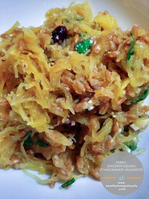 , Spaghetti Squash, Pomegranate Vinaigrette feta, dried cranberries ...