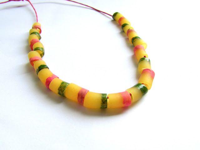 fancy macaroni necklace | Bracelets and Accessories | Pinterest