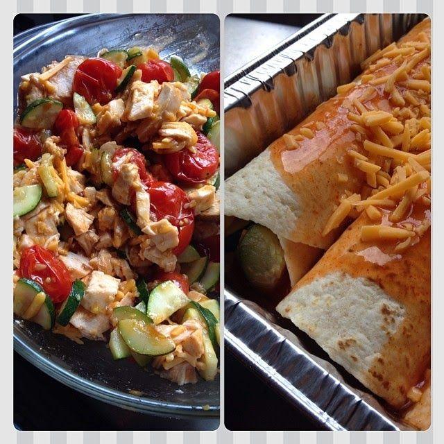 Summer Chicken and Vegetable Enchiladas   Yummy Food   Pinterest
