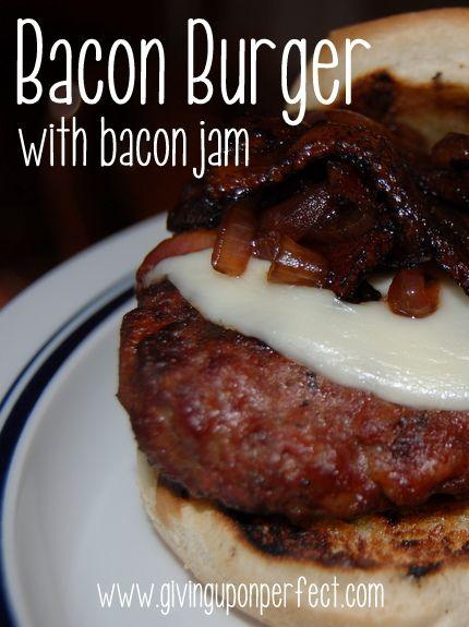 Bacon Burger with Bacon Onion Balsamic Jam #recipe