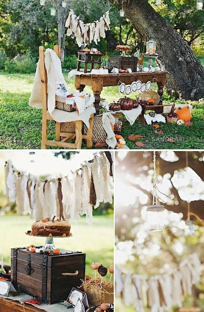 rustic fall baby shower full of ideas for decorating and food via
