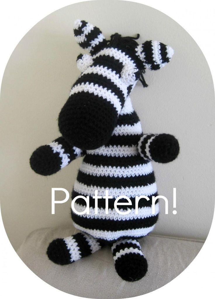 Crochet Pattern, Zebra Amigurumi To
