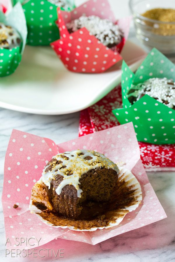 glazed gingerbread muffins from sommer a spicy perspective