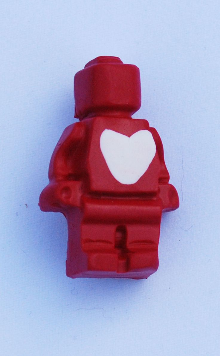 valentine lego heart necklace