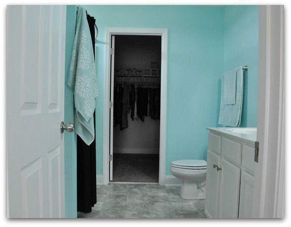Tiffany Blue Bathroom Designs : Found on peasandcrayons.com