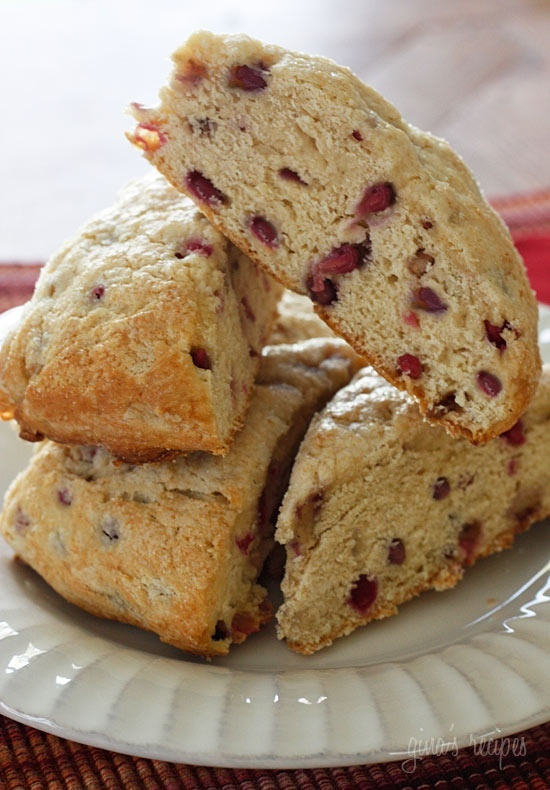 Low Fat Pomegranate Scones Gina's Weight Watcher Recipes Servings: 10 ...