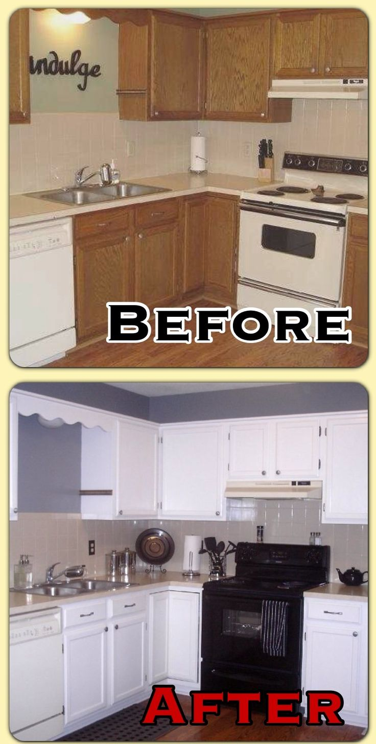 Before and after kitchen makeover home kitchen for Kitchen makeovers