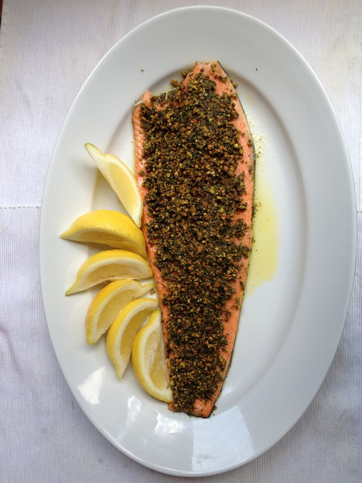 Pistachio-Crusted Salmon | G-Free | Pinterest