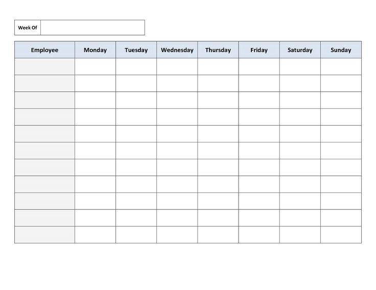 Printable Work Schedule Calendar | My Blog