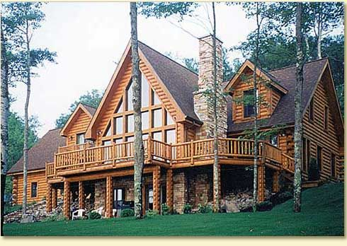 i love log homes!