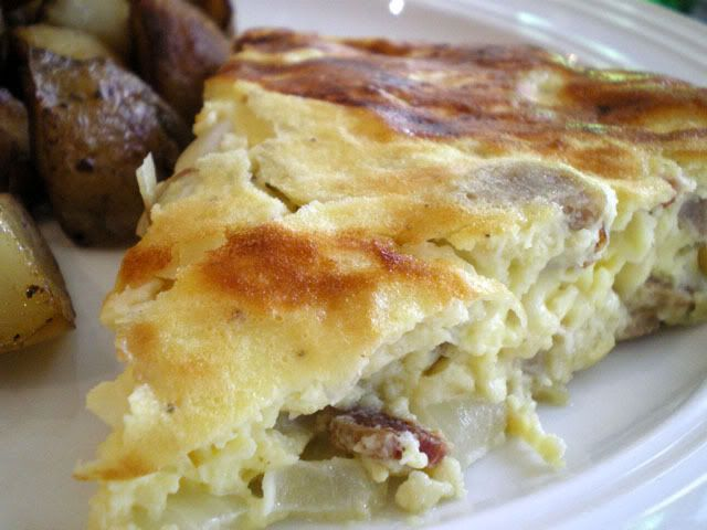 Janet Is Hungry: Bacon Sausage and Goat Cheese Frittata