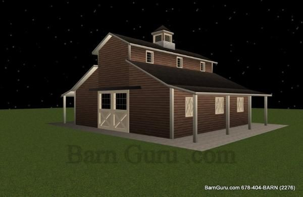 4 Stall Horse Barn Plan Barn Ideas Pinterest