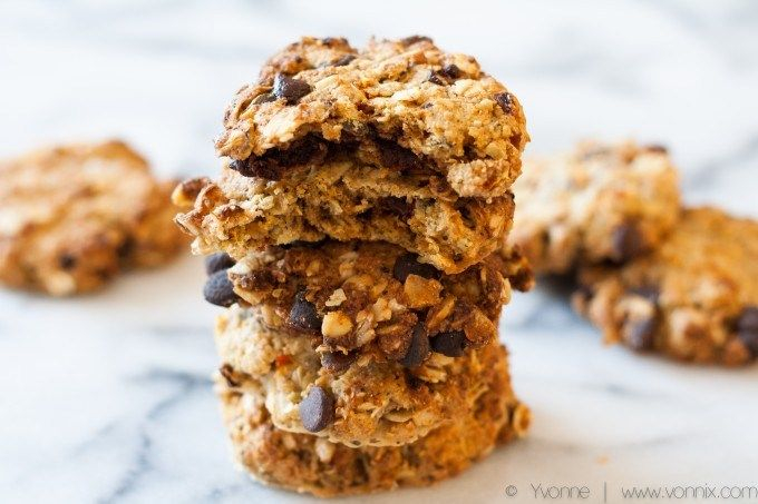 Coconut Chocolate Chip Oatmeal Cookies – Fiterazzi