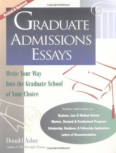 Graduate School Admission Essay Examples