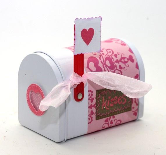 Valentine's Day Mailbox Mail Box Shabby Heart Damask by KotiBeth, $10.00