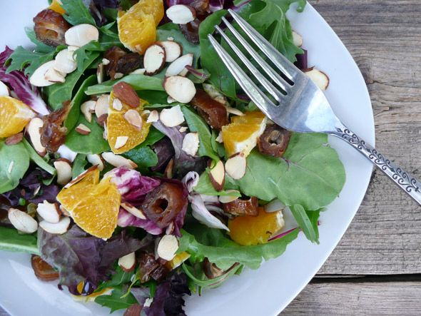 My Mom's Orange, Date, and Almond Salad. This is is a delectable meal ...