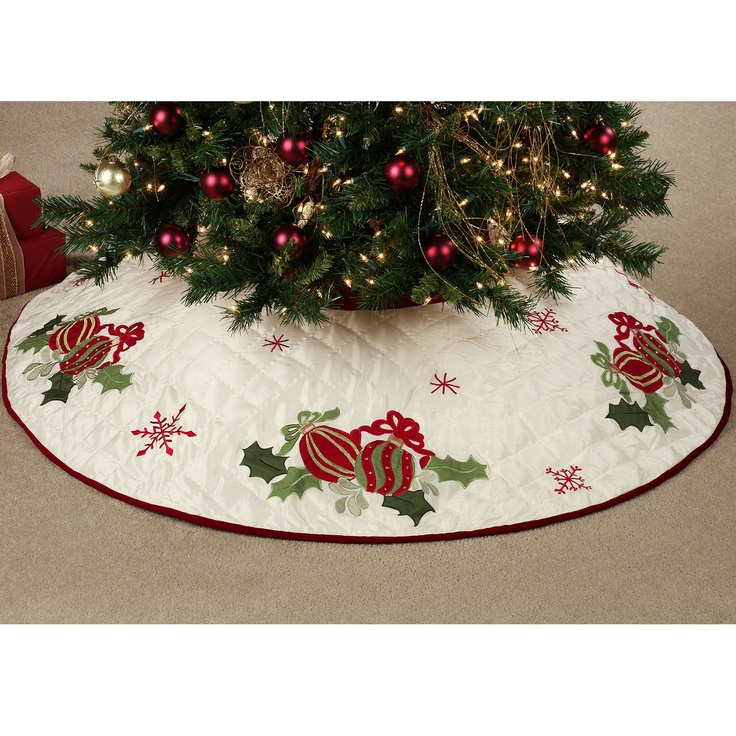 Quilted Ornaments Tree Skirt *Christmas* Trees & Skirts Pinterest