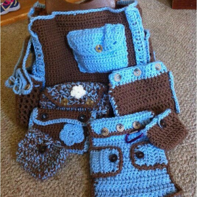 Crochet Dice Bag Pattern : Crochet diaper bag for sale Artesanato inteligente ...