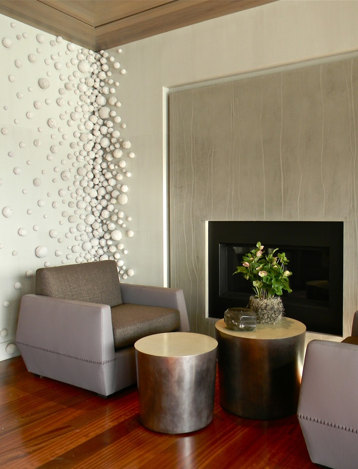 Fireplace cool corner wall treatment for the home pinterest - Cool wall treatments ...