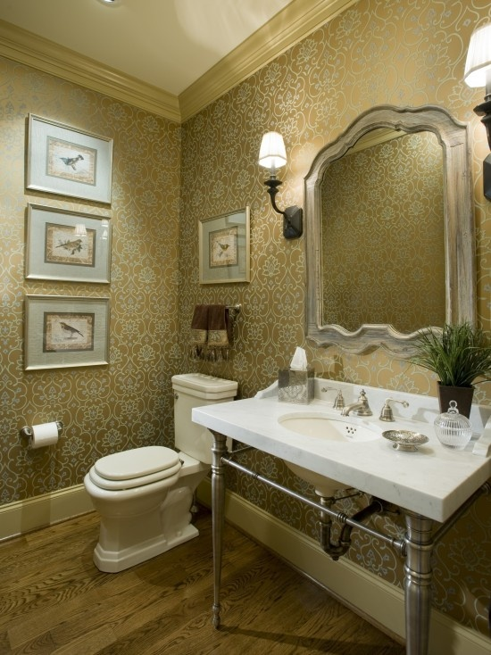 Wallpaper For Powder Room Ideas 2017 Grasscloth Wallpaper
