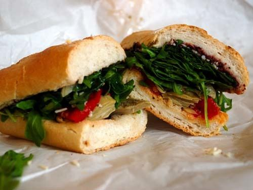Artichoke and Pepper Sandwich | Staying Healthy: Lunch | Pinterest