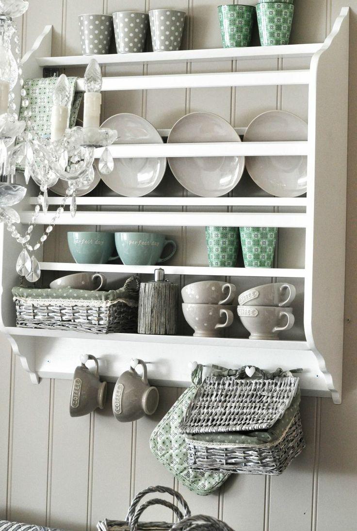 Pin by tove andersen on plate racks pinterest - Kitchen cabinet shelving racks ...