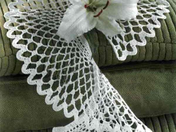 Вязанный шарф мохер