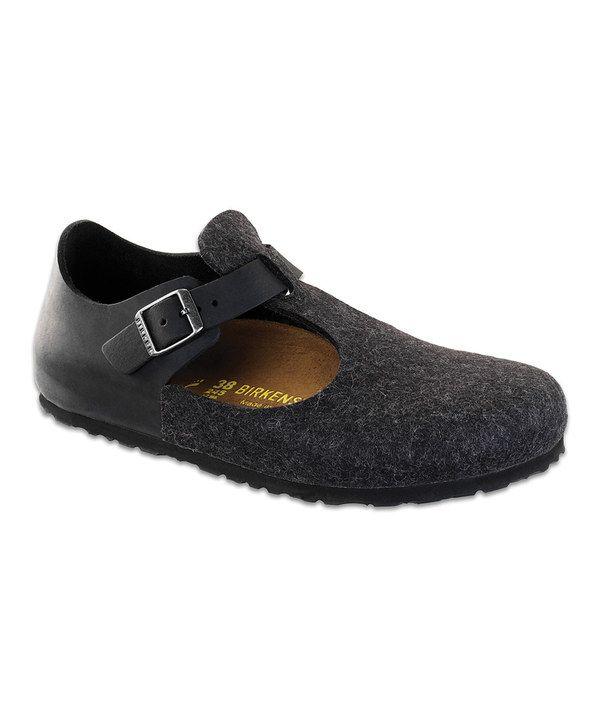Take a look at this Birkenstock Anthracite & Black Paris Shoe - Women